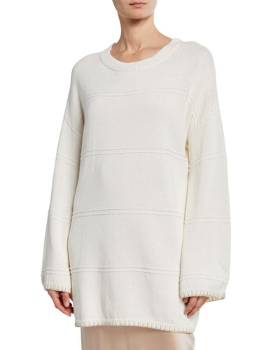 Eve Crewneck Long-Sleeve Sweater Dress