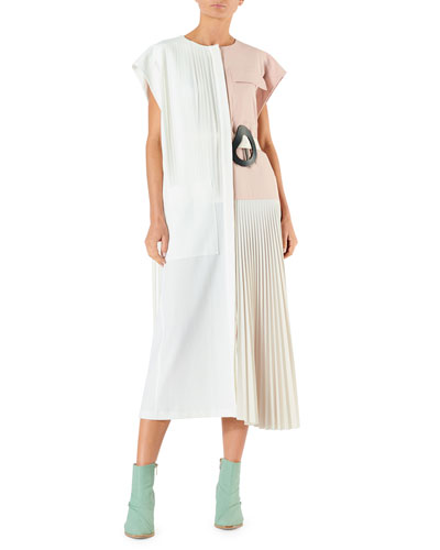 df6dc3429a21 Quick Look. Tibi · Edith Pleating Dress with Belt