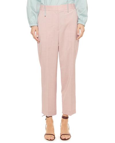 Cross Dye Wool Taylor Mid-Rise Pants