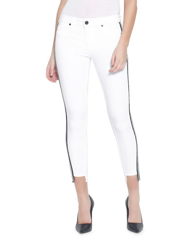 Twisted Seam Cropped Skinny Jeans