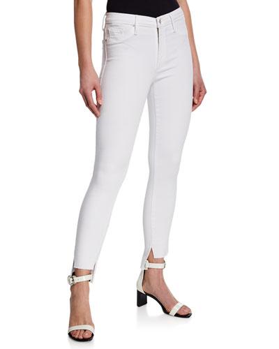 Miranda Step-Hem High-Rise Skinny Jeans