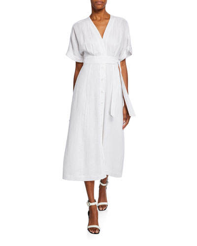 bce4791bc4 Quick Look. Equipment · Nauman Button-Front Short-Sleeve Linen Dress