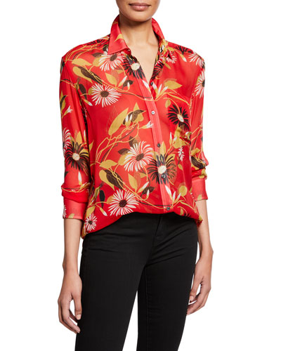 177c8ff8ab29b8 Quick Look. Equipment · Daddy Floral-Print Button-Down Silk Blouse