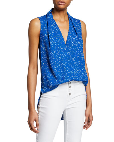 Cheyne Dotted Sleeveless Blouse