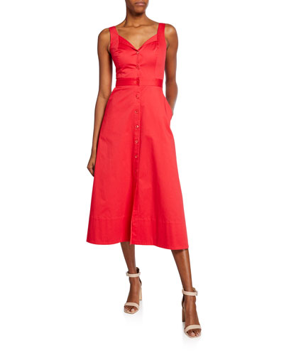 bb531fd54c Quick Look. Equipment · Oleisa Button-Front Sleeveless Midi Dress