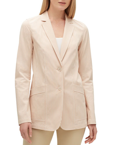 Boston Majestic Micro Stripe Two-Button Jacket