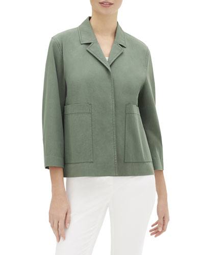 Layken 3/4-Sleeve Italian Pima Cotton Bi-Stretch Jacket