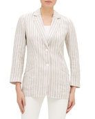 Lafayette 148 New York Boston Sundance Stripe Button-Front