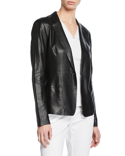 Nikala Napa Lambskin Perforated Leather Jacket