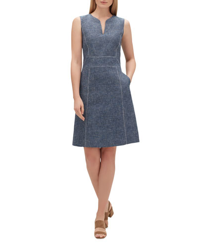 Brett Sublime Space-Dye Sleeveless Dress