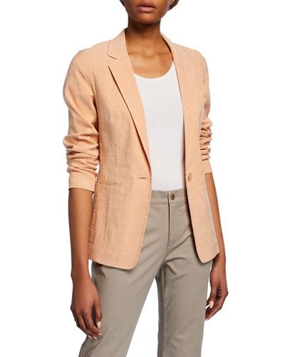 Lyndon Tempra Linen-Blend Jacket