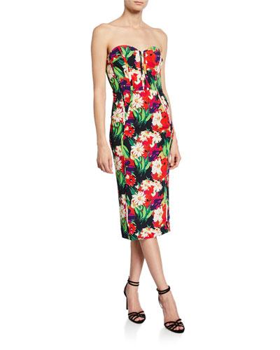 fcccf0a929d Quick Look. Veronica Beard · Saffron Floral-Print Strapless Cocktail Dress