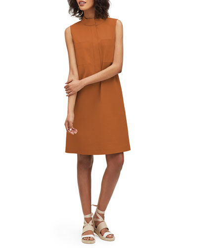 Mitchell Italian Bi-Stretch Sleeveless Shift Dress