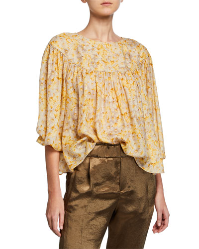 3309296064837c Yellow Silk Blouse