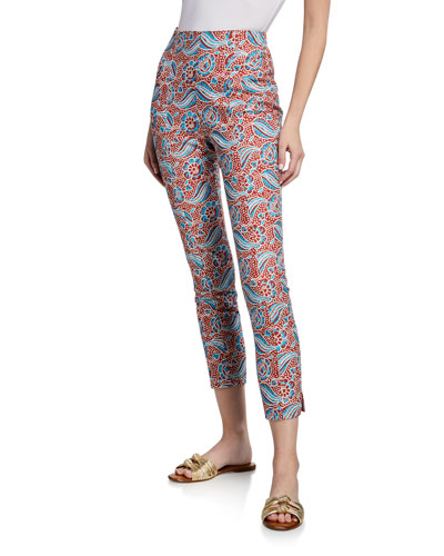 Honolulu Printed Cropped Skinny Pants