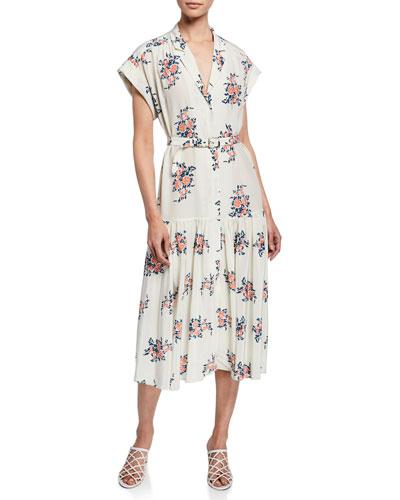 Quick Look. Veronica Beard · Meagan Floral Dropped-Waist Midi Dress fda4f7bed