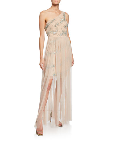 86d687336955e One Shoulder Gown | Neiman Marcus