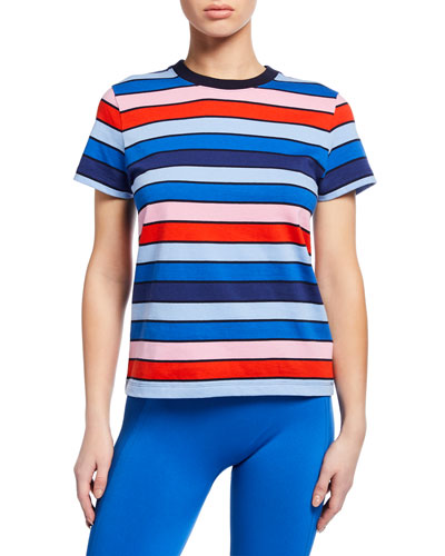 Striped Short-Sleeve Active Tee