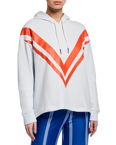 French Terry Chevron Hoodie