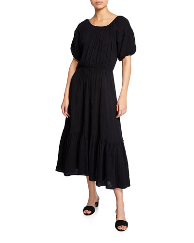 Frida Solid Gauze Maxi Dress