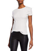 Helmut Lang Bra-Strap Baby Short-Sleeve Cotton Tee