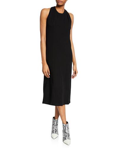 Halter-Neck Jersey Cotton Dress