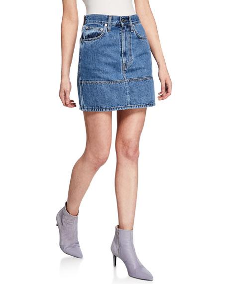 Helmut Lang Femme Utility Denim Mini Skirt