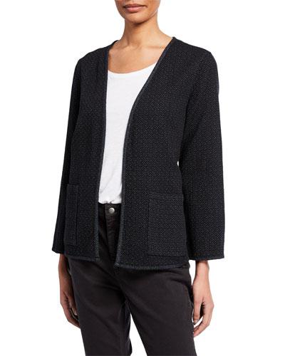 Reversible Cotton Patch Pocket Kimono Jacket