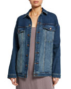 Eileen Fisher Oversized Long Jean Jacket