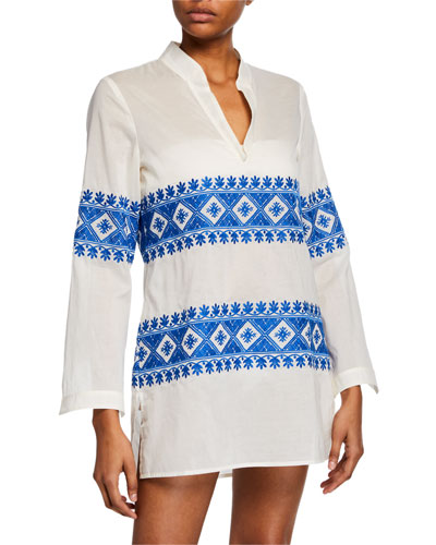 31a076d34f6 Quick Look. Tory Burch · Stephanie Embroidered Coverup Tunic