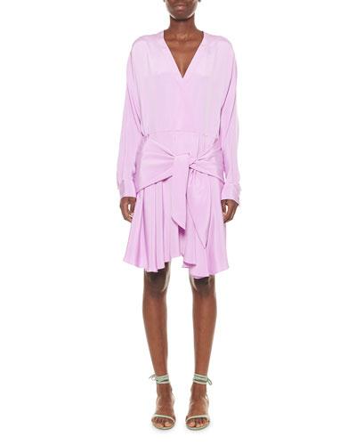 Long Sleeve Cutout Dress Neiman Marcus