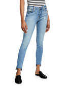 FRAME Le High Skinny Jeans with Staggered Raw