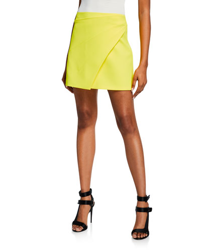 5015f173bc Quick Look. Alice + Olivia · Shaylee Asymmetrical Drape Wrap Mini Skirt