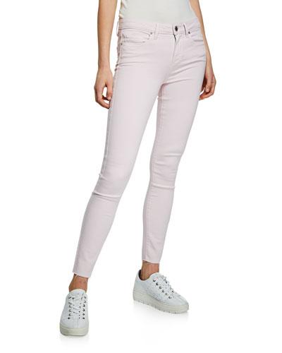 Verdugo Mid-Rise Ankle Skinny Jeans w/ Raw Hem