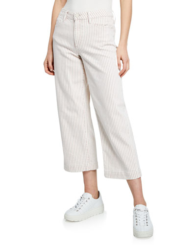Nellie Striped Cropped Culottes