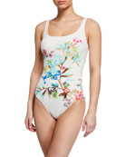 Johnny Was Plus Plus Size Lei Floral One-Piece
