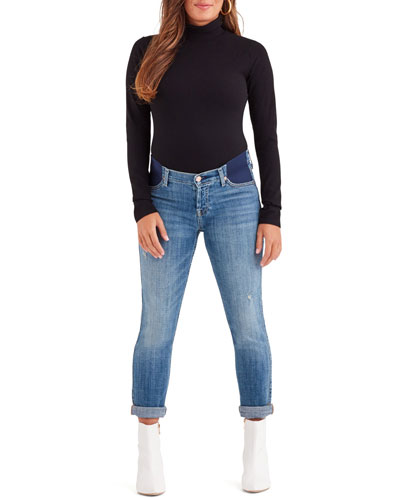 Josefina Straight-Leg Boyfriend Maternity Jeans