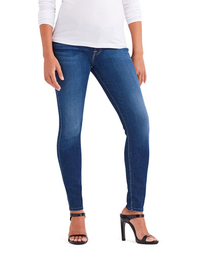 Ankle Skinny Mid-Rise Maternity Jeans