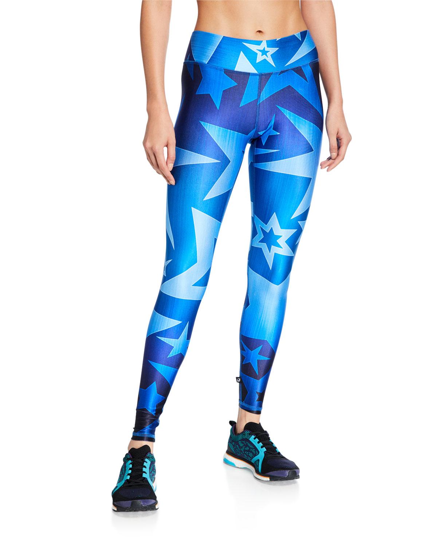 Terez Pants TALL BAND STAR-PRINT LEGGINGS