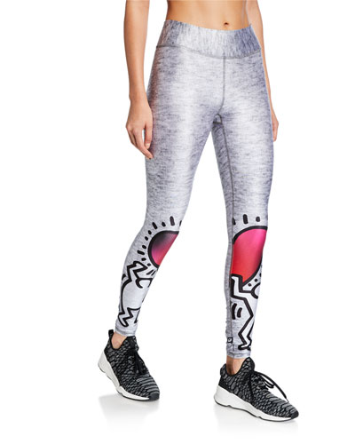 1a29d2985c53c Quick Look. Terez · Terez X Keith Haring Printed Tall Band Leggings