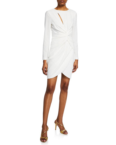 Colby Crepe Grecian-Knot Dress