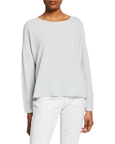 Plus Size Jewel-Neck Long-Sleeve Top