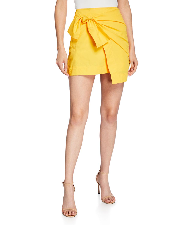 Derek Lam 10 Crosby Skirts DRAPED FAUX-WRAP MINI SKIRT