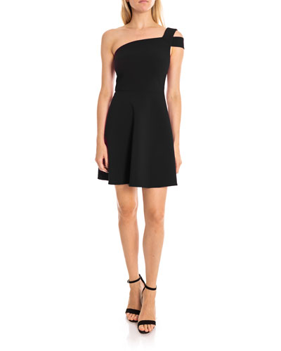 72216f7caf81e Quick Look. Likely · Montgomery One-Shoulder Fit- -Flare Cocktail Dress