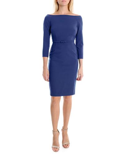 Blue Cocktail Dress  841b95e14