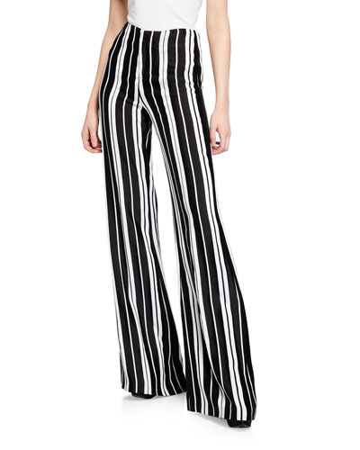 Dylan Striped Flare-Leg Pants