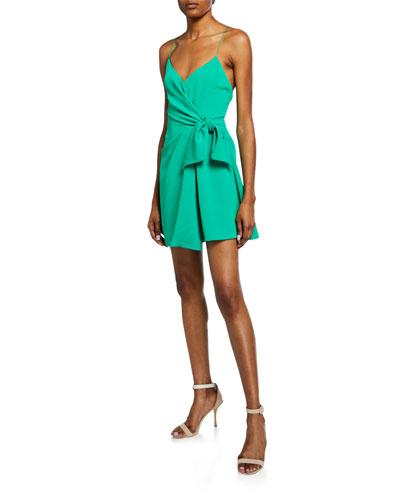b3acf817f5a2 Quick Look. Alice + Olivia · Katie Tie Wrap Mini Dress