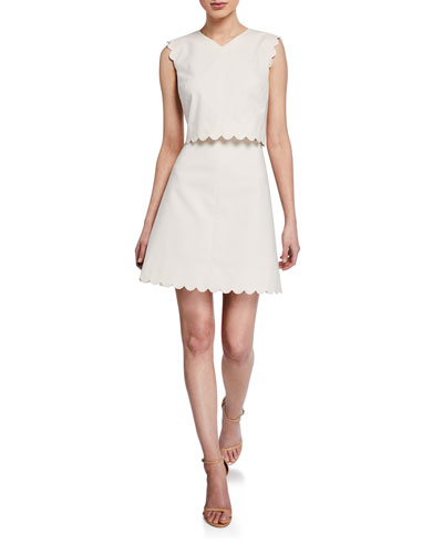16bf0fcef058 Quick Look. Rebecca Taylor · Sleeveless Scalloped Short Dress