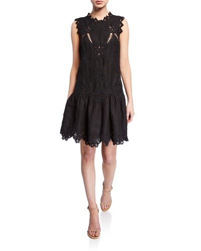 ccb95ff8d4 Quick Look. Rebecca Taylor · Terri Sleeveless Embroidered Dress