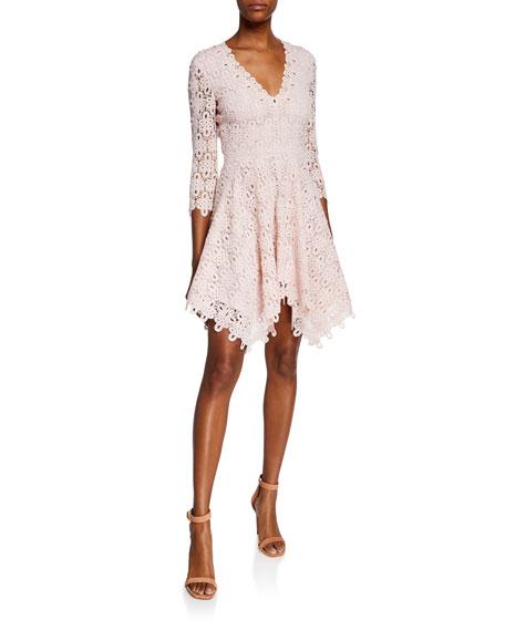 Jonathan Simkhai Guipure Lace V-Neck Dress
